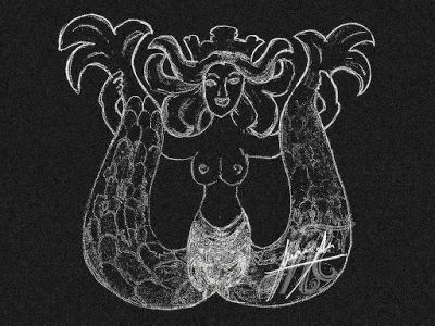 dentro del misterio-melusina en Estella dibujo melusina m.t