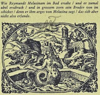 dentro del misterio-melusina en Estella ilustración