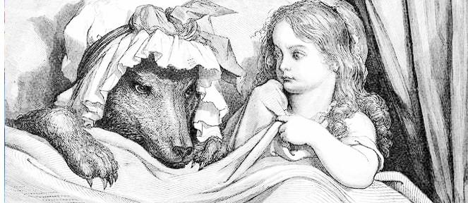 el-lobo-hace-que-Caperucita-suba-a-la-cama-con-él
